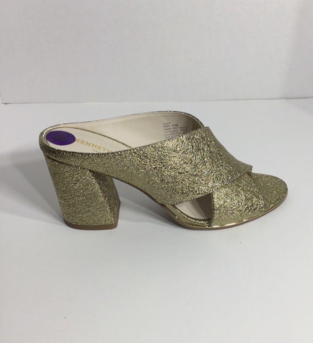 donna's Kenneth Cole Leah oro Mule scarpe Dimensione 8 1 2 M