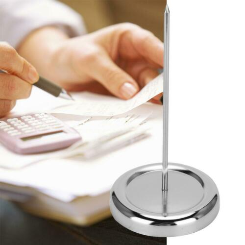 Stainless Steel Straight Rod Paper Memo Holder Check Spindle Bill Receipt Stick