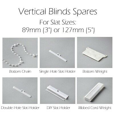 """PACK OF 20m  BOTTOM CHAIN 5/"""" 127mm VERTICAL BLIND REPAIRS /& SPARES"""