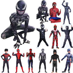 Karneval Superheld Venom Halloween Cosplay Kostüm Kinder Erwachsene Jumpsuit DE