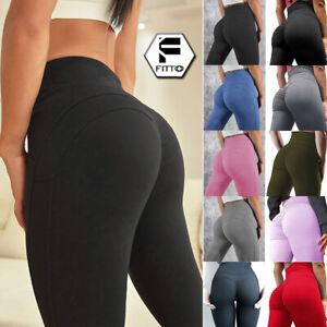 Women Activewear Yoga Leggings Fitness Sport Gym Jogging Bum Lift Pants Trousers