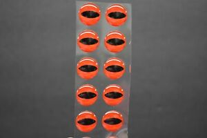 """14  RED  3D Soft Molded 12mm .472/"""" Adhesive Eyes Fly Lures"""