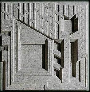 Frank Lloyd Wright Freeman House Design Tile 16 Sq Cast