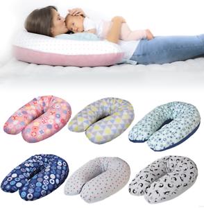 Stillkissen XXL 190 cm Lagerungskissen Baby Kissen Mikroperlen Farbig