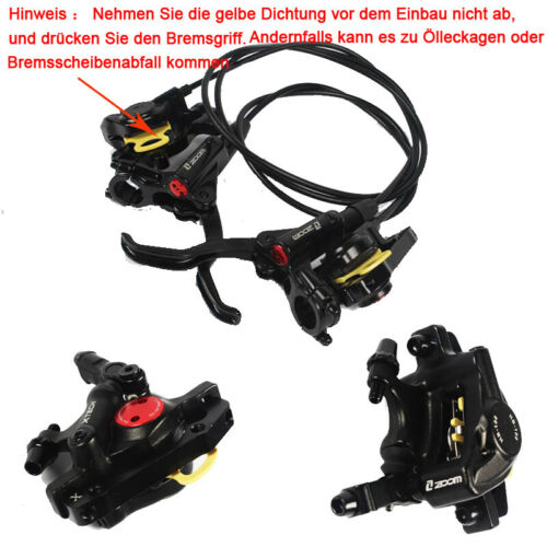 ZOOM HB875 MTB Bicycle Hydraulic Disc Brakes Mountain Bike Levers Front Rear Set