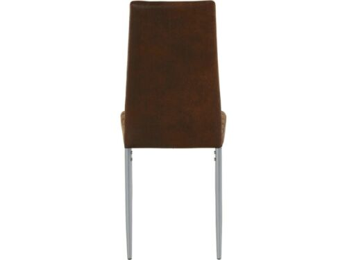 2er Set Stühle Esszimmerstuhl Küchenstuhl Mikrofaser Metallbeine Buffalo-Bezug