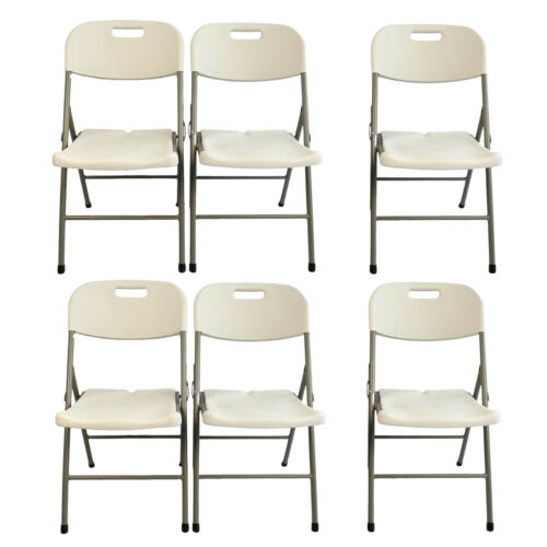 6FT Garden Compact Foldable Table Outdoor Dining Table Chairs Sets Patio Pub BBQ