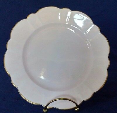 Victoria Light Pink Luncheon Salad Plate Bone China Made in England Vintage Gold