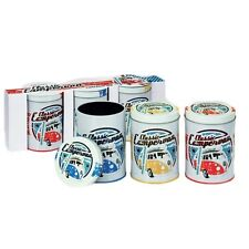 Official VW Classic Campervan Tea Coffee and Sugar Canisters Set - Gift Pack New