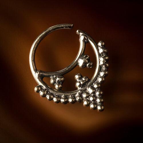 Anello Setto in ottone per piercing da naso o Trago Anello (codice 1)