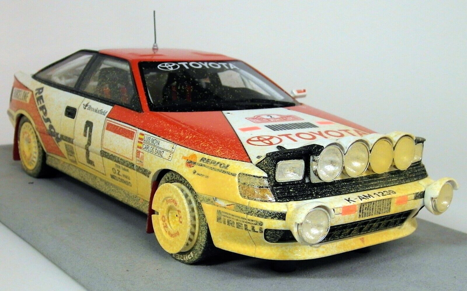 Top Marques 1 18 Scale Toyota ST 165 Monte Carlo Rally Win 1991 Sainz Dirty Vers