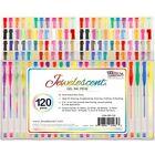 Jewelescent 120 GEL Pen Set Professional Artist Quality Ink Pens Art Supplies