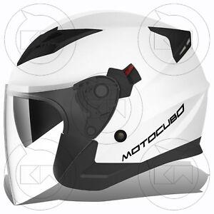 CASCO-JET-TOURER-MOTOCUBO-MONO-BIANCO-DOPPIA-VISIERA-OMOLOGATO-ECE-MOTO-SCOOTER
