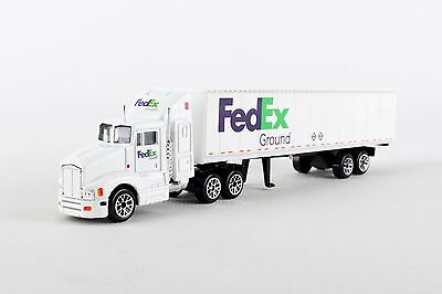 FedEx Ground Tractor Trailer White Real Toy RT1037-1//87 Scale Model Truck