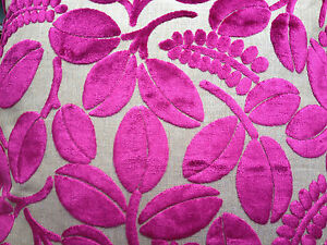 DESIGNERS GUILD FABRIC CALAGGIO COLOUR CASSIS F2105/08 CUT VELVET