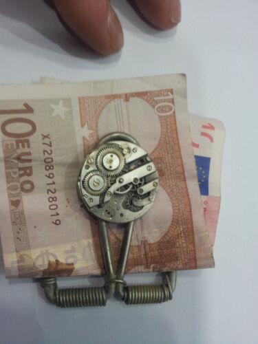1 money mechanism clock Pin Money Clip Money Money Clip Crafted