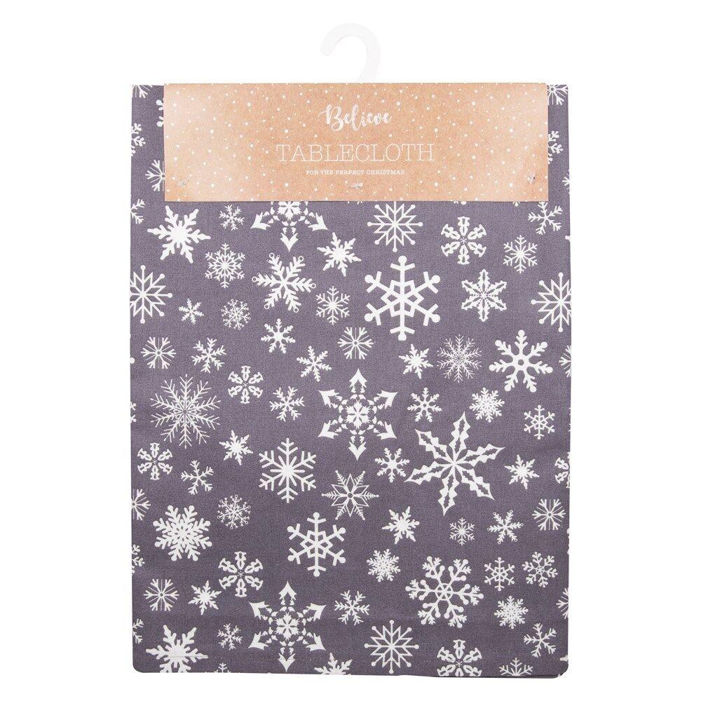 Fiocco di Neve di Natale argentoo Cotone Tovaglia 132cm x 178cm(132cm x 178cm)