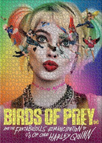 Aves De Rapina Harley Quinn Super-heróis Preto Decoração Puzzle Quebra-cabeças 1000 Peças