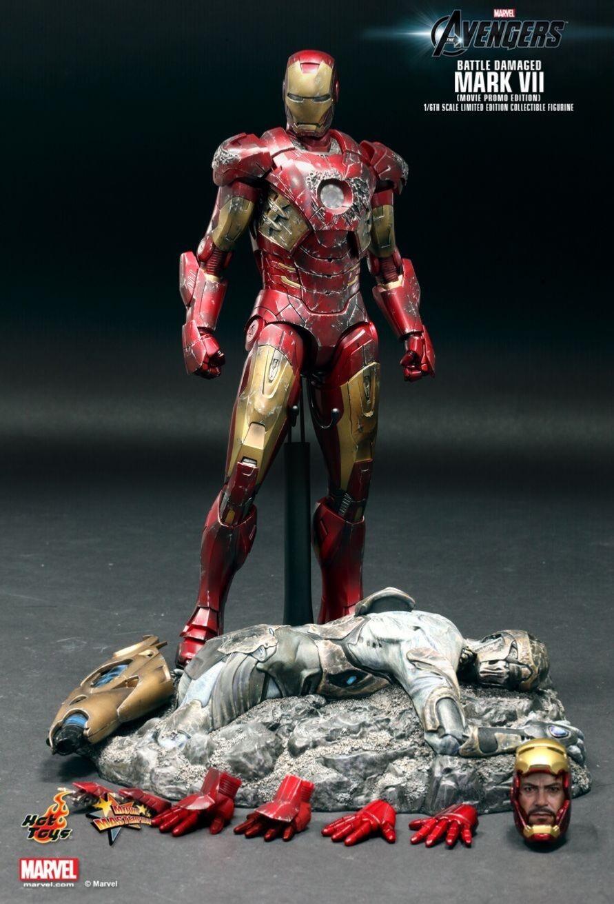 Hot Juguetes Iron Man Mark Vii Battle Damaged
