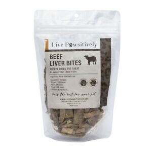 Beef Liver Freeze Dried Dog Treat 4 oz Single Ingredient made in USA