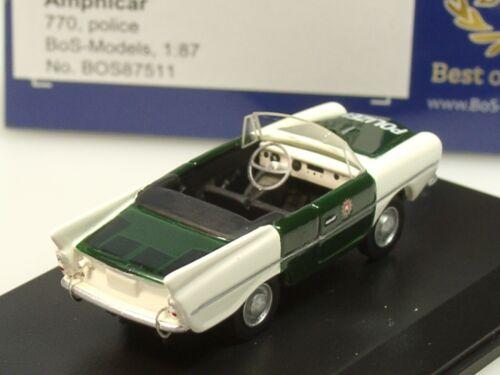 87511-1:87 Bos Amphicar 770 policía 1961 verde-blanco