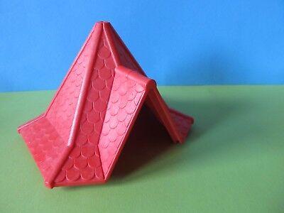 282 # Lego Pierre oblique positif 1x1x0,6 Transparent Rouge 10 Pièce