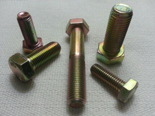 M10-1.25 X 90 mm DIN 961 Hex Cap Screws Full Thread 10.9 Steel Lot of 2