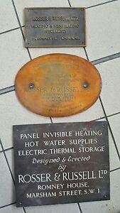 3-Antique-19t-amp-20th-C-Bronze-amp-Brass-Plaque-Sign-W1-amp-SW1-Famous-Co-amp-Inventor
