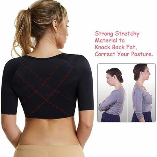 Women Arm Shaper Short Sleeves Upper Firm Compression Back Shapewear Bra Push Up