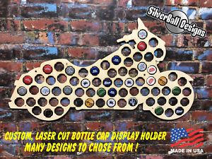 Motorcycle-Cruiser-Custom-Beer-Pop-Cap-Holder-Collection-Display-Gift-Man-Cave