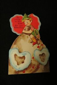 Vintage-MOUNTIAN-Climbing-Valentine-Card-c-1940s-by-a-meri-card