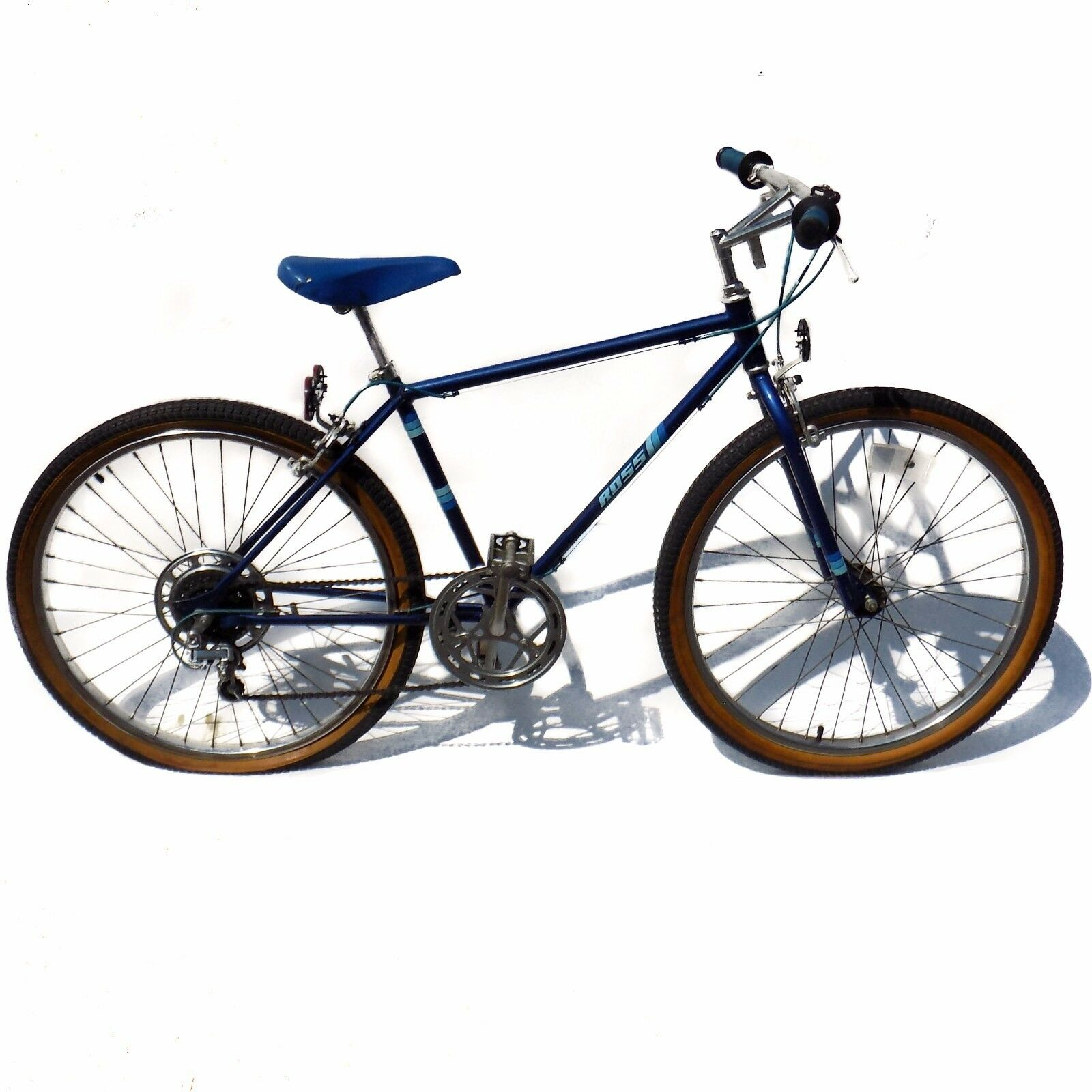 1984 Ross Curb Crusher Mountain Bike Vintage bluee MTB 26  Bicycle 5 Speed
