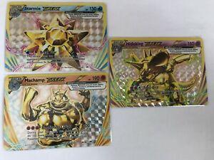 Starmie-Nidoking-Machamp-BREAK-ULTRA-RARE-32-46-60-108-Pokemon-Xy-Evolutions-NM