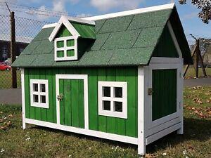 CHICKEN COOP RUN HEN HOUSE POULTRY ARK HOME NEST BOX COOPS RABBIT HUTCH GREEN