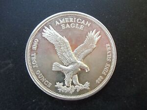 American Eagle Silver Trade Unit 1 Troy Oz 999 Fine Silver Art Round Ebay