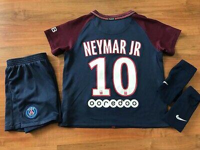 newest 3a958 72bc5 Boys NIKE PSG PARIS St GERMAIN Home FOOTBALL KIT Shirt (age5-6) *NEYMAR* |  eBay