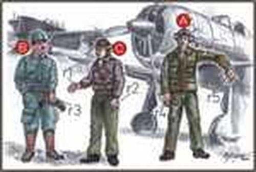 CMK F72043 1//72 Resin WWII Japanese Navy Pilots and Mechanic 1 2
