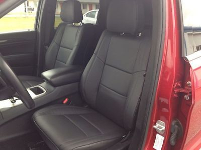 2012 2013 2014 2015 JEEP GRAND CHEROKEE LAREDO KATZKIN BLACK LEATHER SEAT COVERS