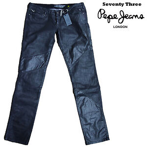 Noir Enduit Femme Ligne Pepe Three Seventy 73 Jeans RqtwnE