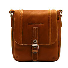 Enzo Designs - Tan Dispatch Messenger Bag in Cow Columbian Leather
