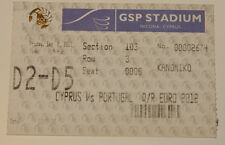 Ticket for collectors EURO q * Cyprus - Portugal 2011 in Strovolos