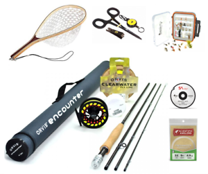 """ORVIS Encounter 908-4 9/'0/"""" 8wt Fly Rod Outfit Package ON SALE! NEW"""