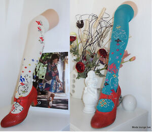 IVKO-Kniestrumpfe-Knee-high-Gunta-size-35-42-creme-beige-Socken-overknee