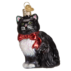 Old-World-Christmas-TUXEDO-KITTY-12452-N-Glass-Ornament-w-OWC-Box