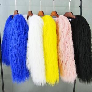 Streetwear solido pelliccia colori in da Capispalla Cappotto 5 invernale nuovo chic caldo invernale donna Cappotto vwa4P84