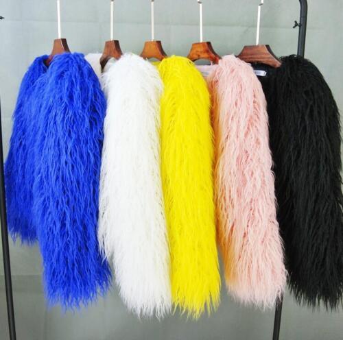 pelliccia caldo chic Streetwear colori invernale in Capispalla Cappotto Cappotto invernale solido nuovo donna da 5 vRRqU
