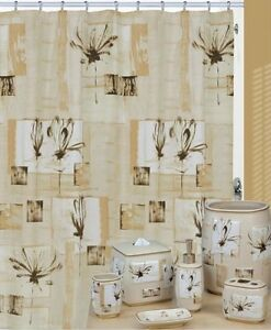 Image Is Loading Creative Bath Botanical Collage Shower Curtain Hooks Amp