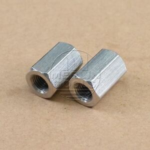2-Pcs-M8-x-1-25-Long-Rod-Coupling-Hex-Nut-Stainless-Steel
