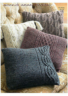 aran cushion covers knitting pattern 99p