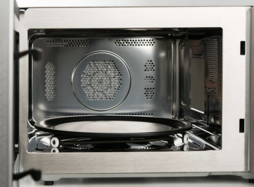Edelstahl-Mikrowelle 4in1 Heißluft Ober-//Untergrill 900 W Pizzafunktion 25 L.